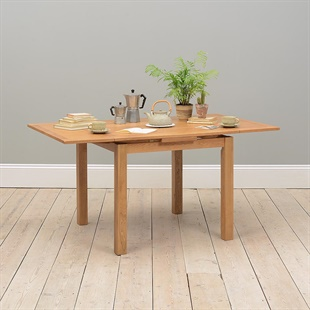 Light Oak 90-155cm Square Extending Dining Table