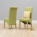 Chairs Pistachio Green Linen Rollback Dining Chair