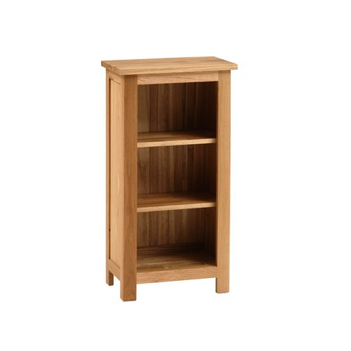 cottage oak very small bookcase 3 shelves for go