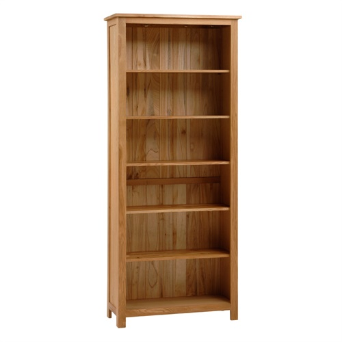 Alderley Oak Tall Bookcase 6 Shelves A404 With Free