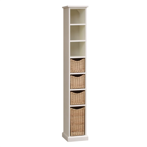 Farmhouse ivory narrow tallboy b478 with free delivery - Narrow storage cabinet for bathroom ...
