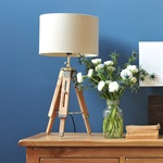 tripod table lamp natural c063 with free delivery the cotswold company. Black Bedroom Furniture Sets. Home Design Ideas