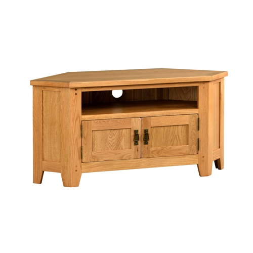 oakland large corner tv unit up to 56 c269 with free delivery the cotswold company. Black Bedroom Furniture Sets. Home Design Ideas