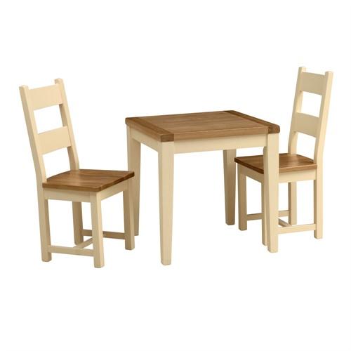 Cream Dining Set: Cheltenham Cream Small Dining Set With 2 Ladderback Chairs