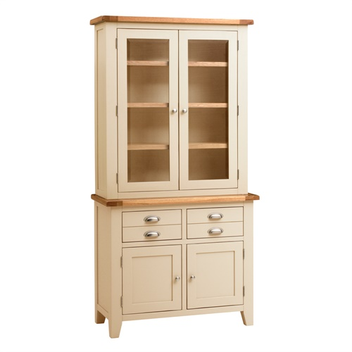 Cheltenham Cream Two Door Glazed Dresser C426 With Free Delivery The Cots
