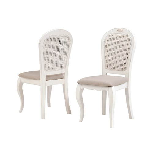 Chantry white fabric seat dining chair c577 with free for White fabric dining chairs