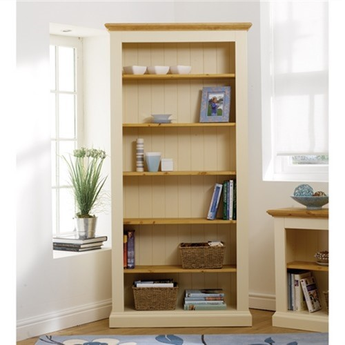 Wiltshire painted tall wide bookcase shelves d with