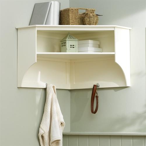 Tetbury Ivory Corner Shelf And Hooks E411 With Free