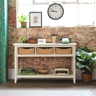 Farmhouse Ivory Console Table