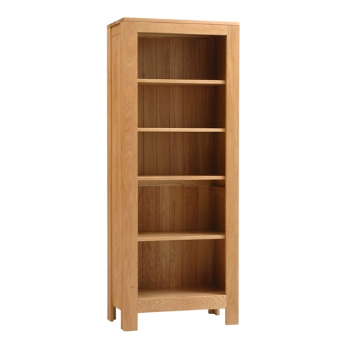 Ealing Oak Tall Bookcase 5 Shelves J103 With Free