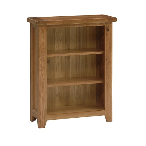 cottage oak very small bookcase 3 shelves j271 with free