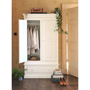 Burford Painted Double Wardrobe with Drawer