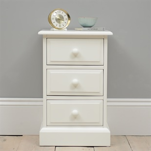 Burford Painted 3 Drawer Bedside Cabinet