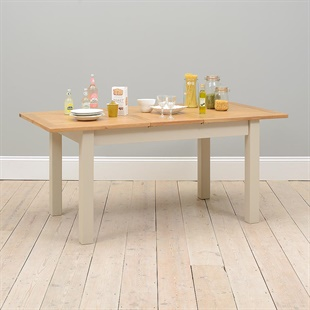 Lundy Stone Grey 140-180cm Ext. Dining Table