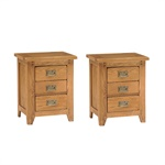 Read more about Oakland 3 drawer bedside cabinets - set of 2