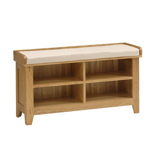 Oakland shoe bench and cushion k267 with free delivery the cotswold company Shoe storage bench with cushion