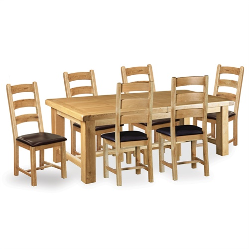 Kingsley Oak 220cm 310cm Ext Dining Table and 6 Chairs  : K51614 from www.cotswoldco.com size 500 x 500 jpeg 96kB