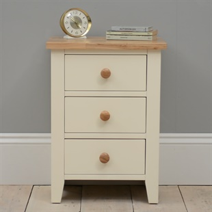 Mottisfont Painted 3 Drawer Bedside Table