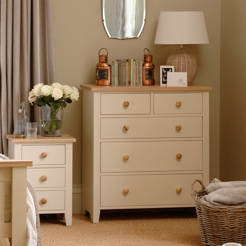 mottisfont painted 2 3 chest of drawers l146 with free delivery