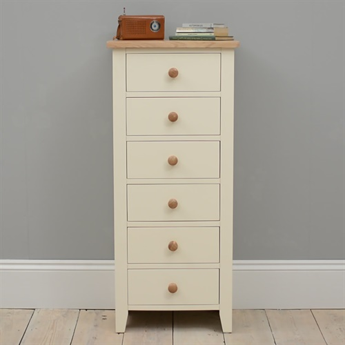 Mottisfont Painted Tall 6 Drawer Chest L148 With Free Delivery The Cotswold Company Mg39