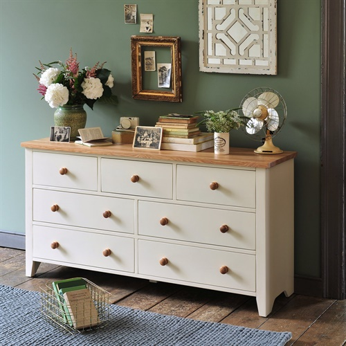 Mottisfont Painted Wide 7 Drawer Chest L149 With Free Delivery The Cotswold Company Mg56