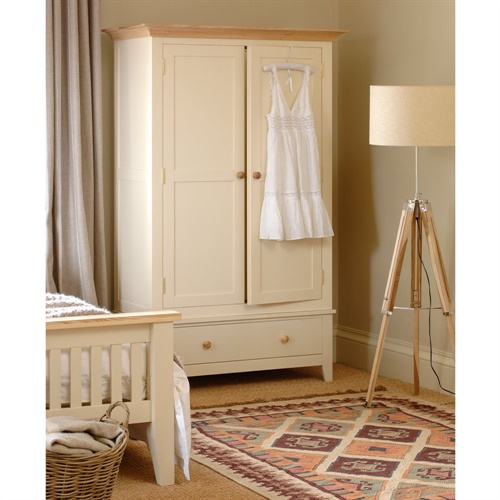 Mottisfont Painted Gents Double Wardrobe L155 With Free