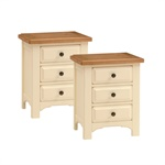 Read more about Westbury painted pair of 3 drawer bedside cabinets