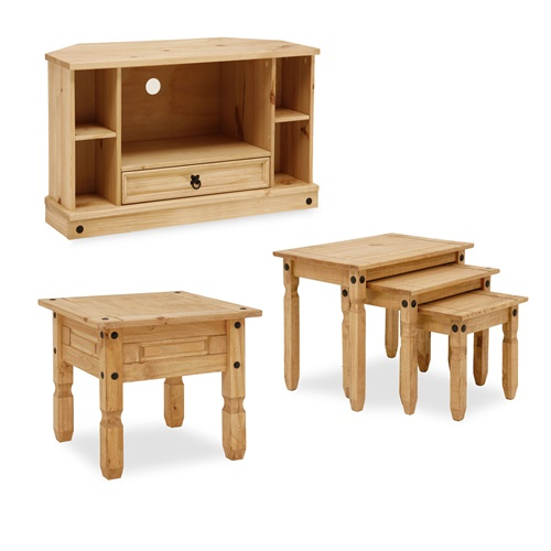 Corona Pine Living Room Set L1999 With Free Delivery The Cotswold Company