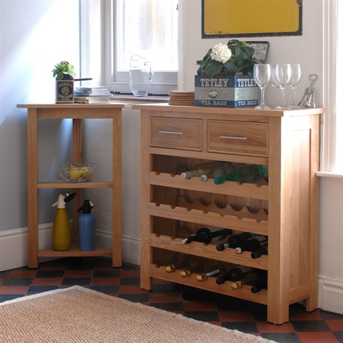 Kitchen Cupboards Montague Gardens: Newark Oak Wine Rack Cabinet (L359) With Free Delivery