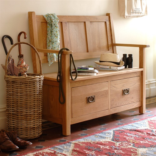 Lyon Oak Monks Storage Bench L403 With Free Delivery The Cotswold Company
