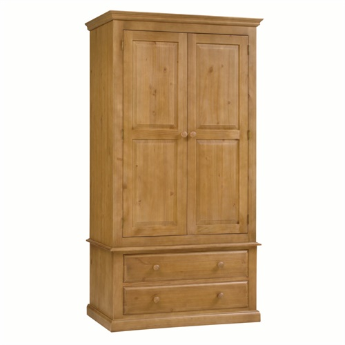 Langley Pine Gents Double Wardrobe L815 With Free