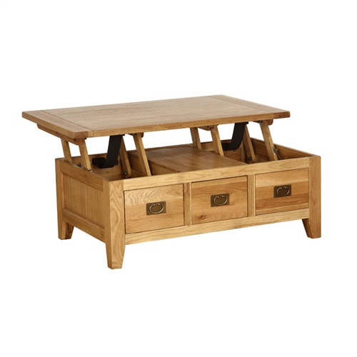 Montague Oak Lift Top Coffee Table M018 With Free Delivery The Cotswold Company