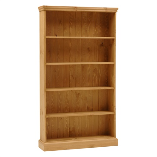 dorchester pine extra wide 6ft bookcase 5 shelves m264 with free delivery the cotswold company. Black Bedroom Furniture Sets. Home Design Ideas