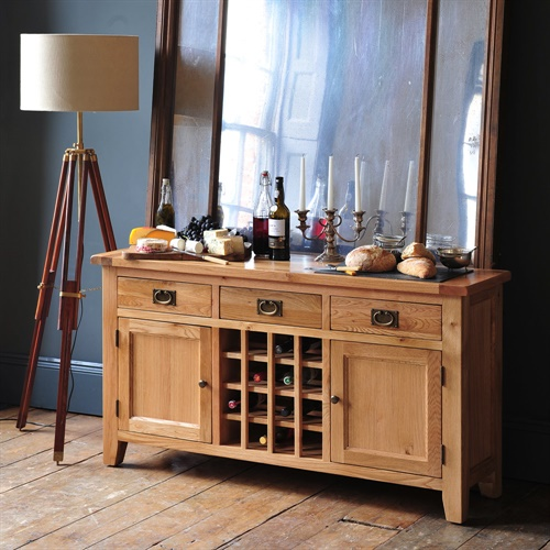 Kitchen Cupboards Montague Gardens: Montague Oak 2 Door Wine Console (M571) With Free Delivery