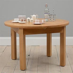 Light Oak 120cm-160cm Extending Round Dining Table