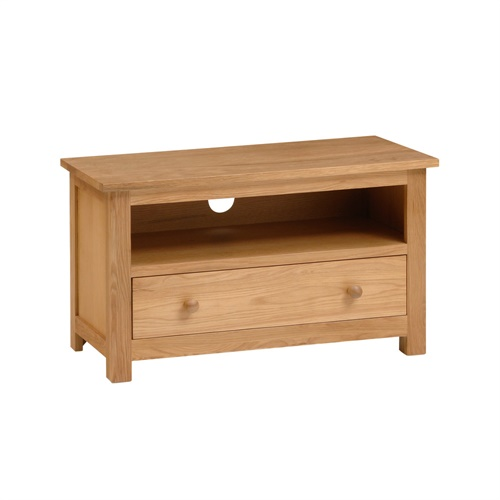 Richmond oak small tv stand with 1 drawer up to 37 for Tv stand for small living room