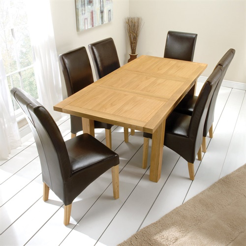 Richmond oak cm table and straight back chairs
