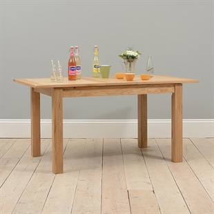 Light Oak 130-160cm Extending Dining Table