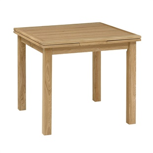 Light Oak 90-155cm Square Extending Dining Table