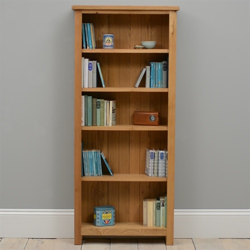 Cheap Furniture Delivered: Lyon Petite Oak Assembled Bookcase 5 Shelves (P361) With