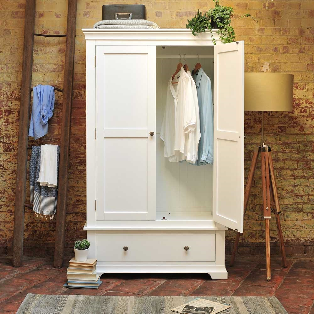 White Painted Gents Wardrobe