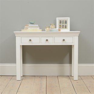Chantilly White 3 Drawer Dressing Table