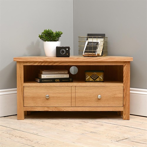 sterling oak corner tv unit q248 with free delivery