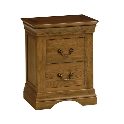 Toulouse Dark Oak 2 Drawer Bedside R237 With Free Delivery The