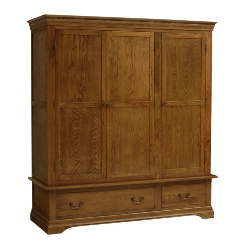 Toulouse Dark Oak Triple Wardrobe R247 With Free Delivery The