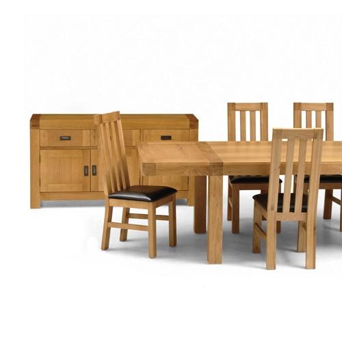 Oak Dining Room Set Sideboard Table Pressback Chairs: Wycombe Oak Dining Table, 4 Chairs And Sideboard (S112