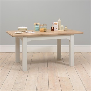 Westbury Grey Painted 125-165cm Ext. Dining Table
