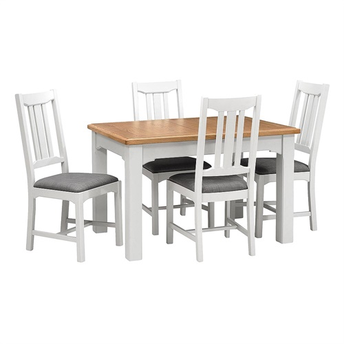 43f7d870ec westbury grey painted 125 165cm ext table and 4 chairs s456 with free  delivery the c.