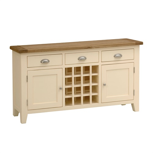 Cheltenham Cream Painted Sideboard With Wine Rack V856