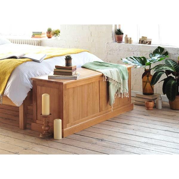 Appleby Oak Wide Ottoman Box